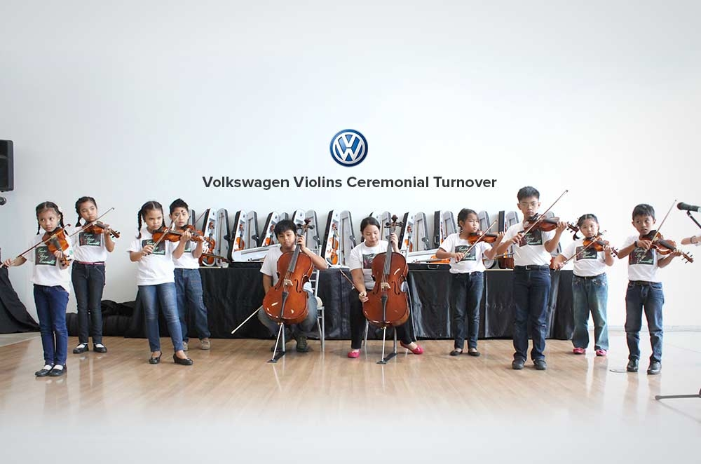 Volkswagen Ph donates musical instruments to talented CENTEX students