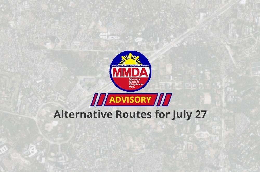 MMDA announces alternative routes for SONA 2015