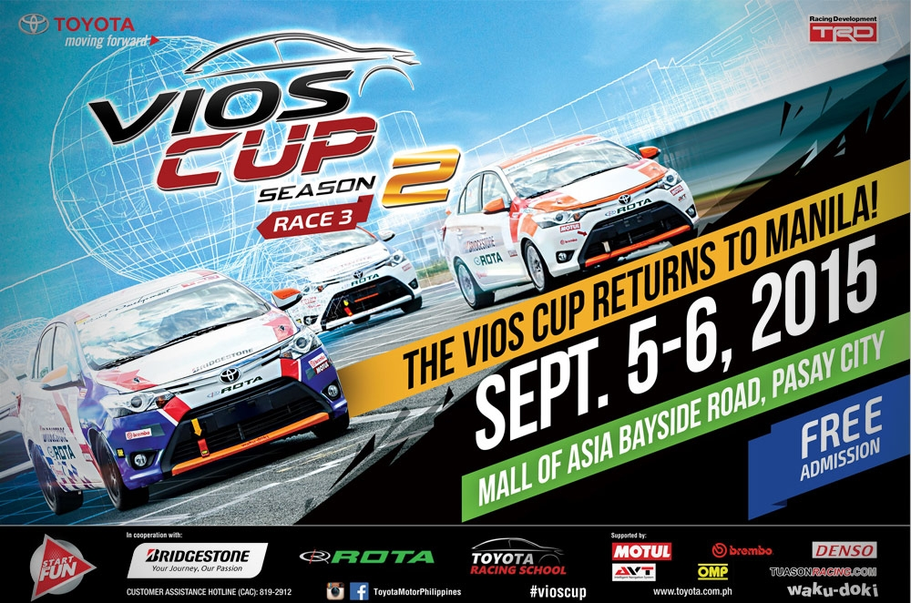 Toyota gears up for the Vios Cup's 3rd round in SM Mall of Asia