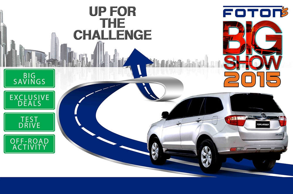Get the best deals at Foton's BIG SHOW happening this October