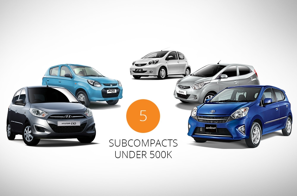 5 value-packed subcompacts under P500k that could be your next car