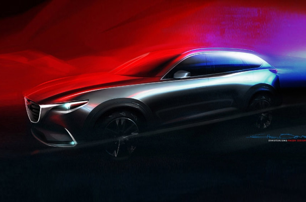Mazda teases us with a rendering of the all-new CX-9