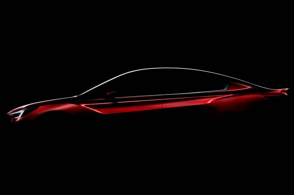Subaru teases us with a glimpse of the Impreza sedan concept