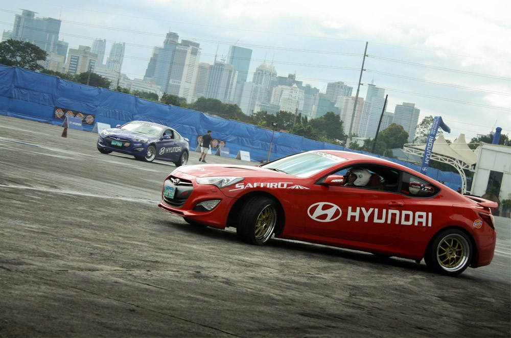 Going sideways with the Hyundai Genesis Coupe