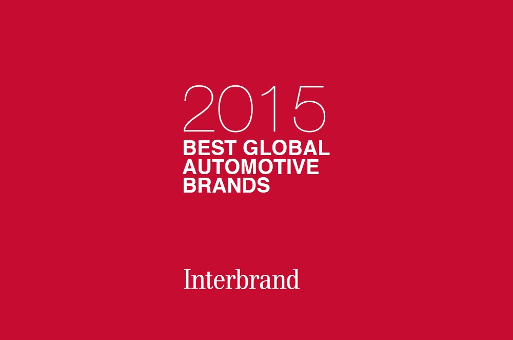 Interbrand names the Best Global Automotive Brands of 2015