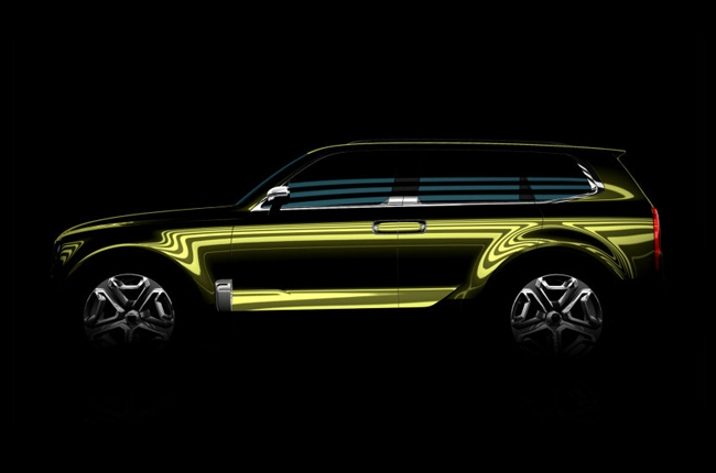 Kia teases with a new full-size SUV before the 2016 Detroit Auto Show