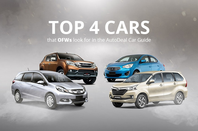 Top 4 cars that OFWs look for in the AutoDeal Car Guide