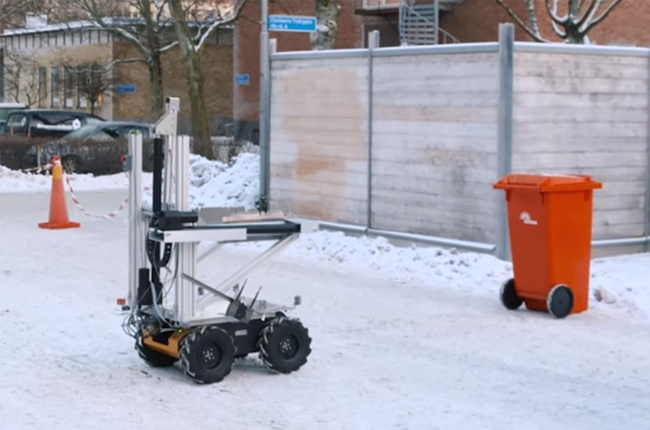 WATCH: Volvo showcases trash collecting robot prototype