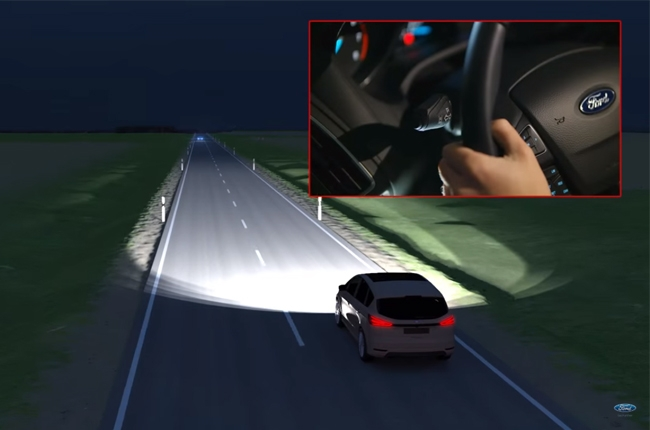 WATCH: Ford demos their glare-free high-beam technology