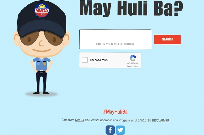 MMDA launches MayHuliBa.com allowing motorist to check if they have violations