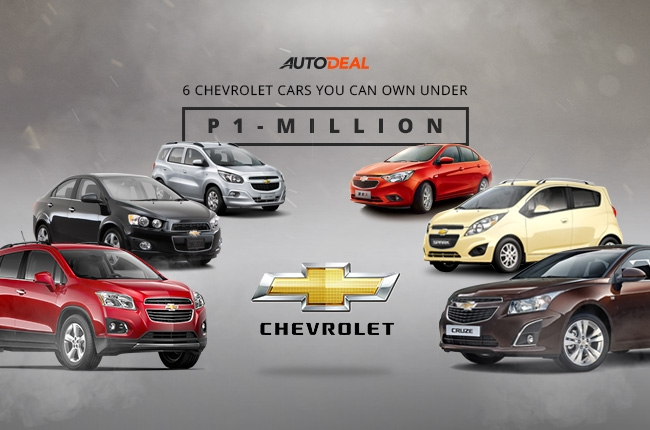 6 Chevrolet cars you can own under P1-million