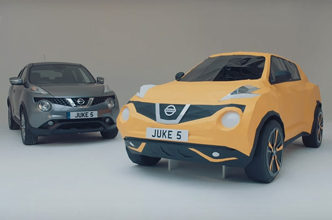 Nissan creates origami Juke using 2,000 pieces of paper