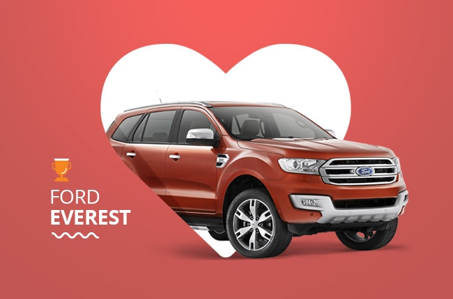 The Ford Everest is top of the most wish lists on AutoDeal