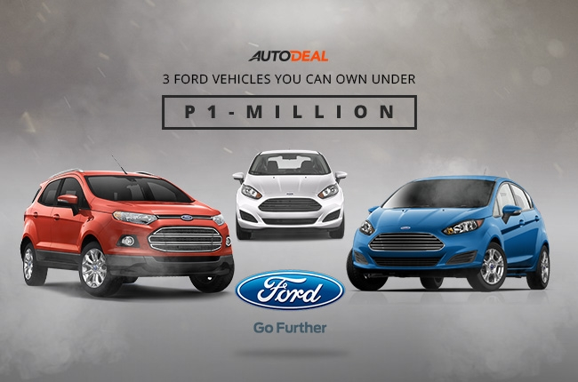 3 Ford vehicles you can own under P1-million