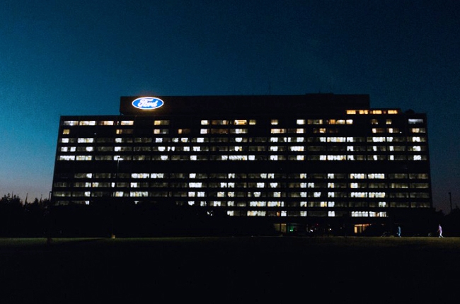 Ford HQ lights up to celebrate historic Le Mans win