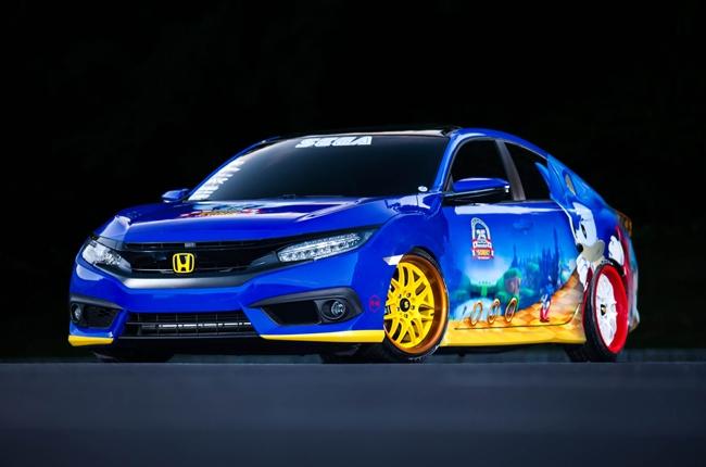 "Honda reveals ""Sonic Civic"" at SEGA's Sonic the Hedgehog 25th Anniversary"