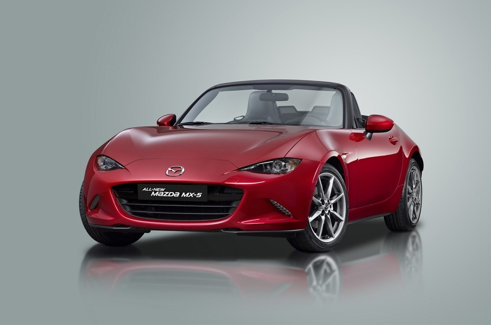 Mazda Miata generations poster shows evolution of MX-5