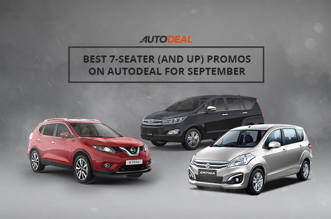 The best 7-seater (and up) promos on AutoDeal this September 2016