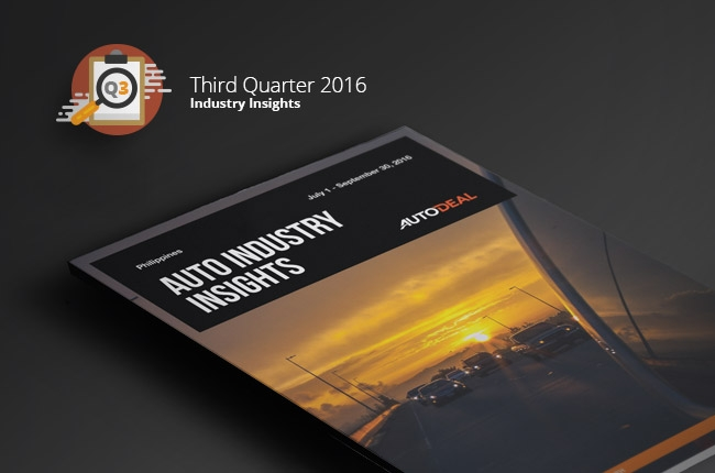 AutoDeal Releases Philippine Auto Industry Digital Insights for Q3 2016.