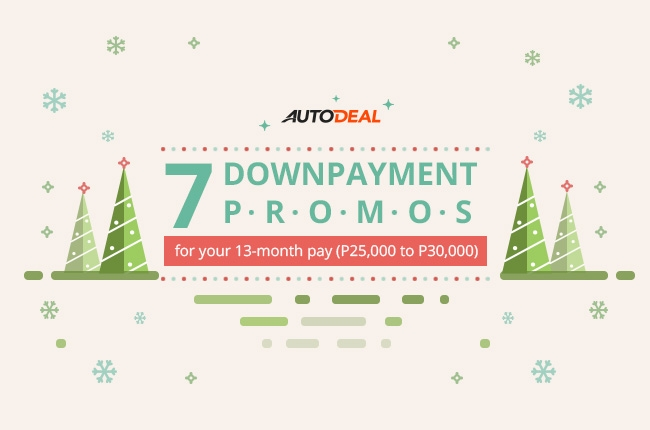 7 downpayment car promos to get this Christmas (P25,000 to P30,000)
