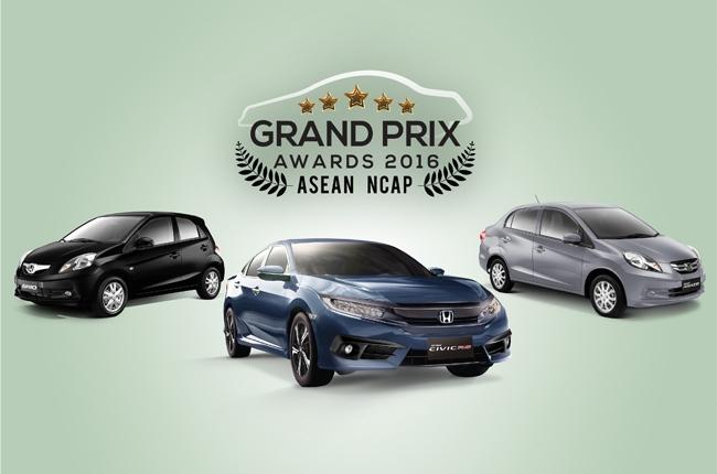 ASEAN NCAP gives 10 safety awards to Honda