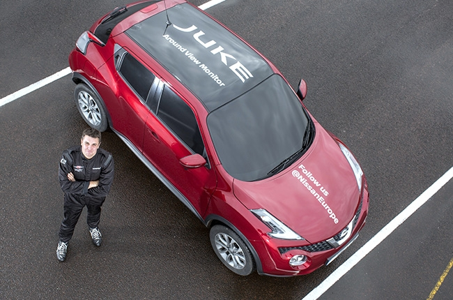 Nissan Juke sets world's first blind J-turn using only onboard cameras