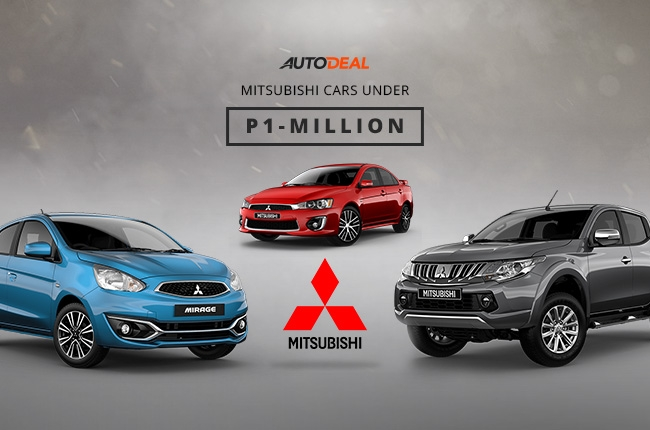 Mitsubishi cars that cost less than P1 million