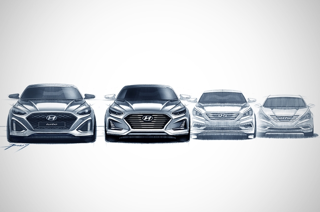 Refreshed Hyundai Sonata teased in design sketches
