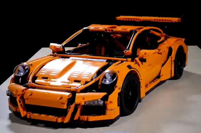 WATCH: Poor Lego Porsche 911 crashed to its demise