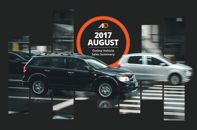 Philippine Online Vehicle Sales Summary - August 2017
