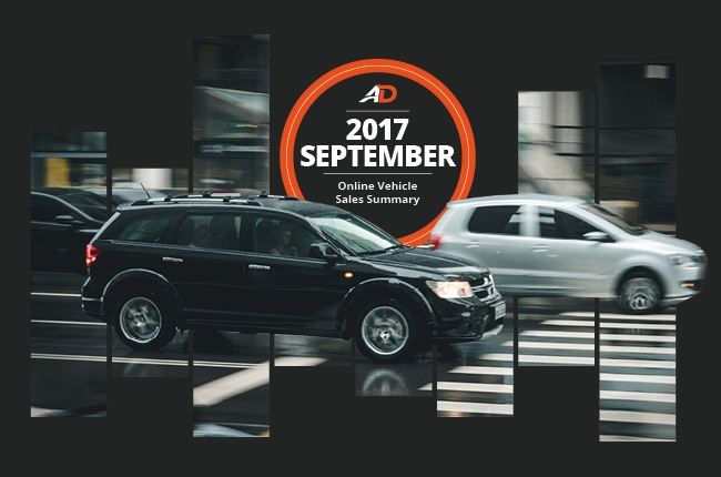 Philippine Online Vehicle Sales Summary - September 2017