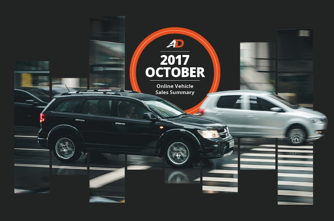 Philippine Online Vehicle Sales Summary - October 2017