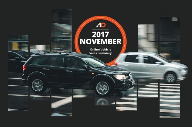 Philippine Online Vehicle Sales Summary - November 2017