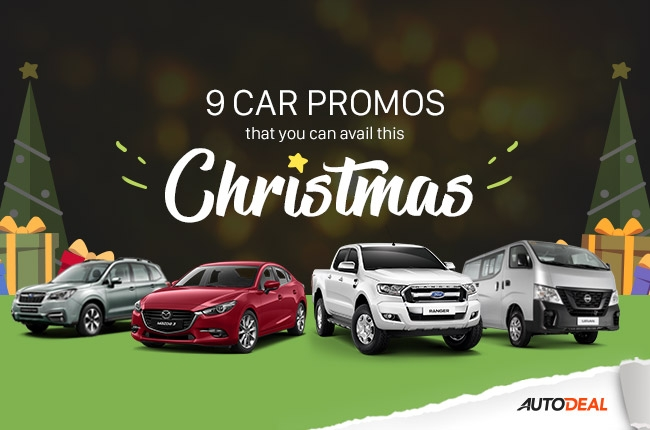 9 car promos you can avail this Christmas