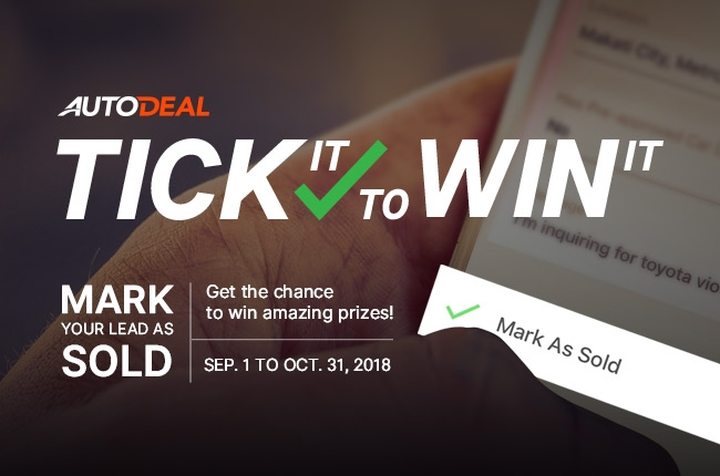 AutoDeal rewards sales agents with 'Tick it to Win it'