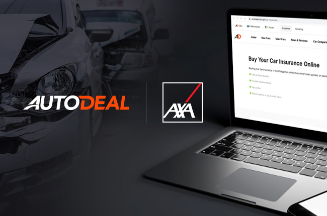 AutoDeal integrates contactless car insurance online thru AXA Philippines