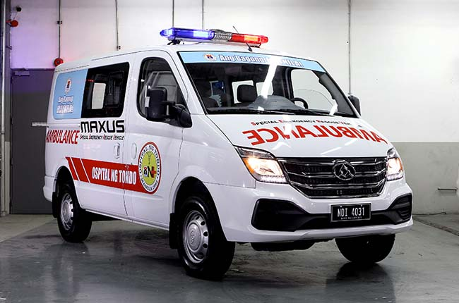 Maxus Philippines donates V80 flex ambulance to Ospital ng Tondo