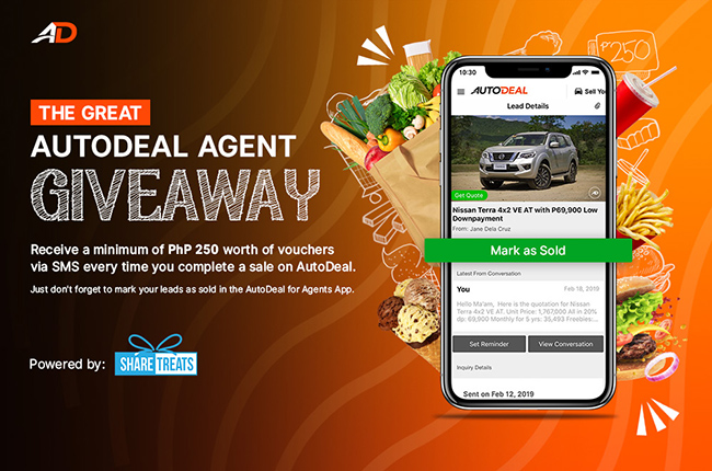 Daily Rewards up for grabs in The Great AutoDeal Agent Giveaway.