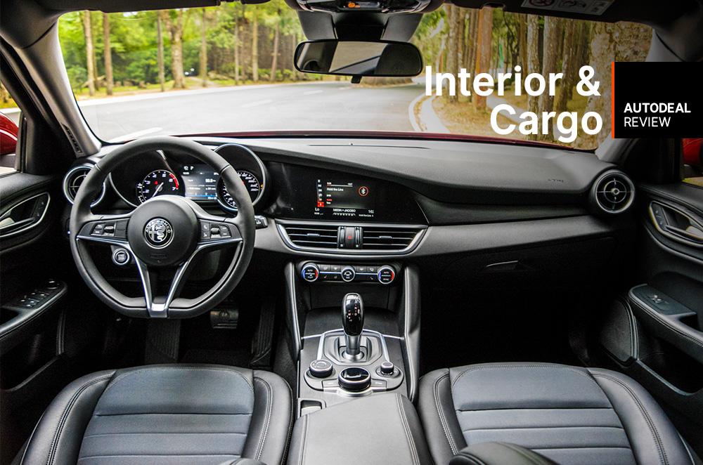 2019 Alfa Romeo Giulia Interior & Cargo Space