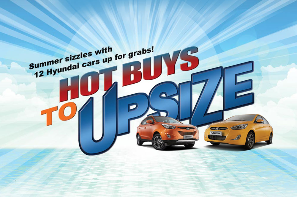 "Hyundai's hot treat is letting buyers win an ""Upsized"" ride this summer"