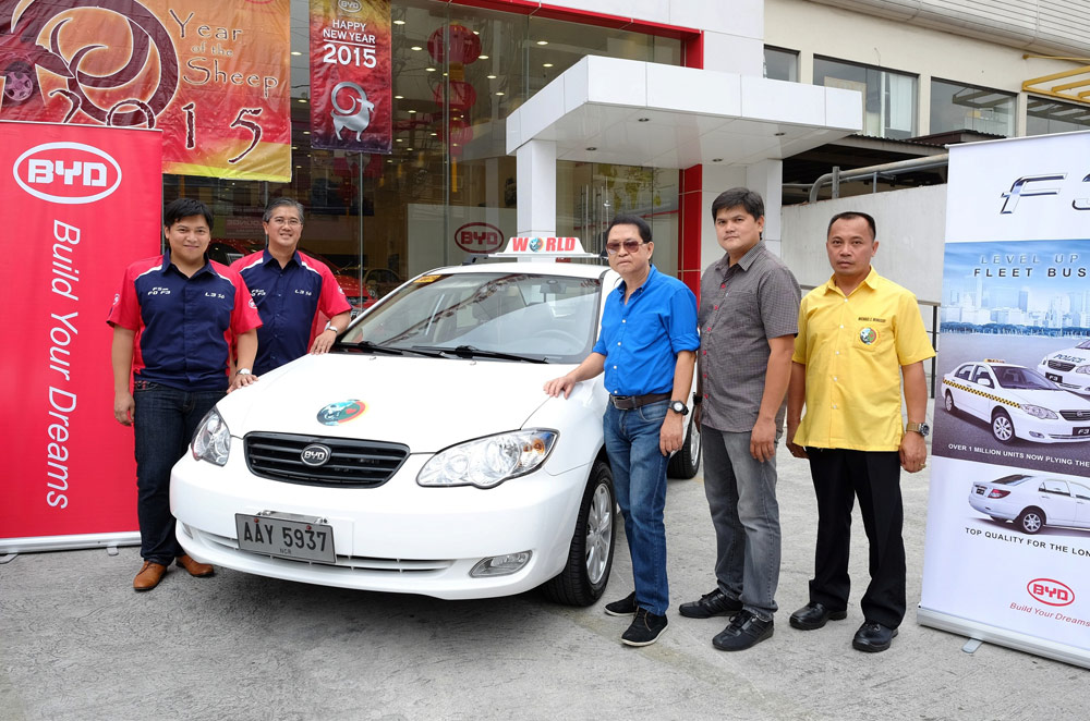 BYD Philippines sends off first fleet of F3 taxis