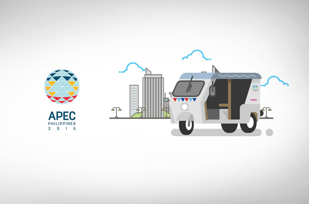 E-Motors' ZüM E-Trikes transport delegates of the APEC 2015 Economic Leader's Summit