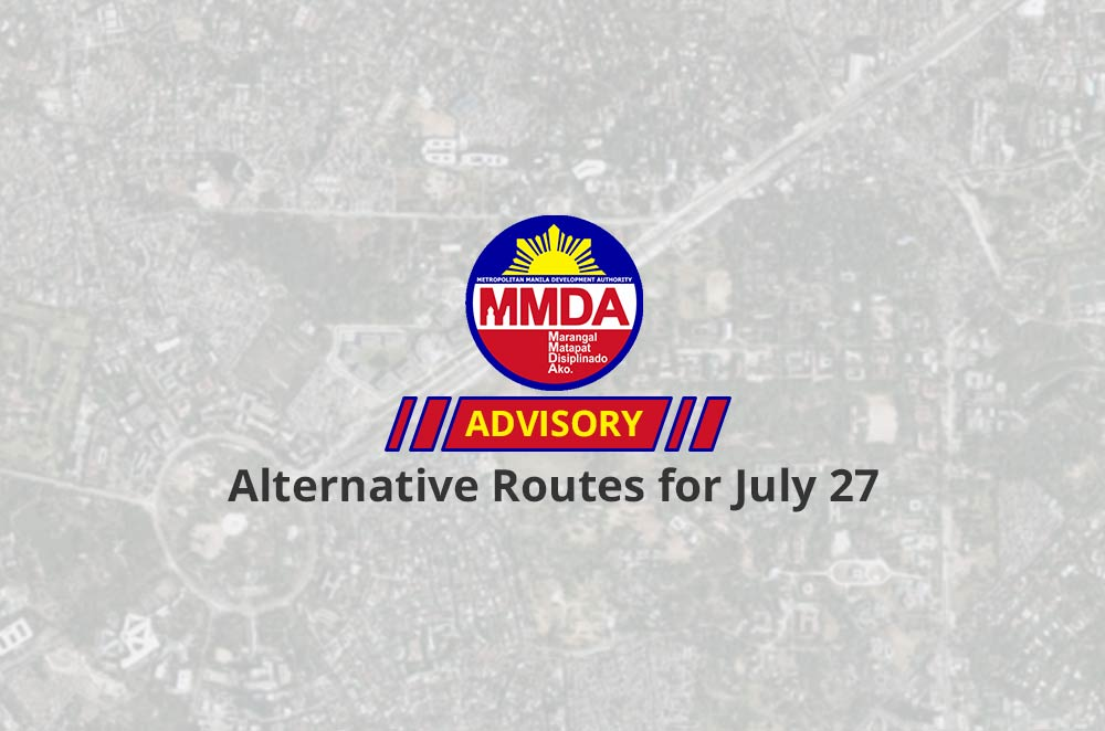 MMDA announces alternative routes for SONA 2015