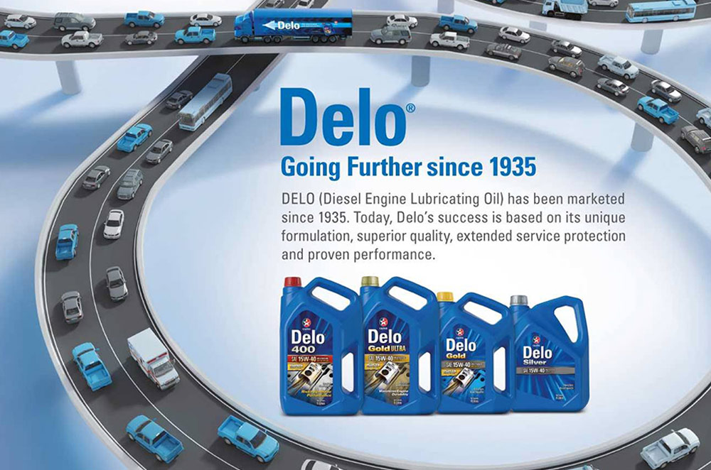 Chevron's infographic on Delo engine oil's rich 80-year history