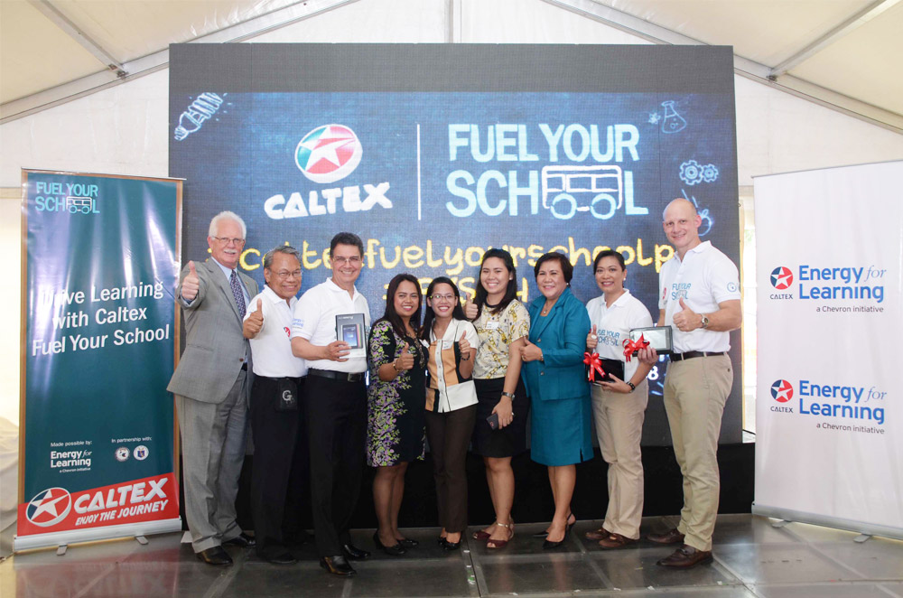 Caltex Fuel Your School program awards learning materials to schools in Metro Manila