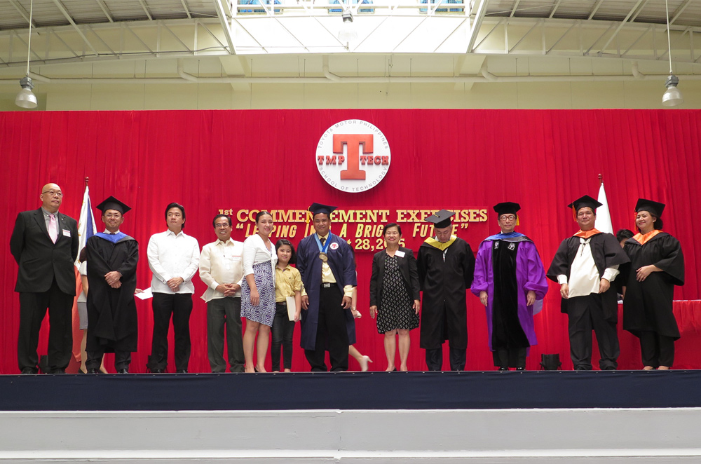 Toyota Motor Philippines School of Technology ordained its first batch of graduates