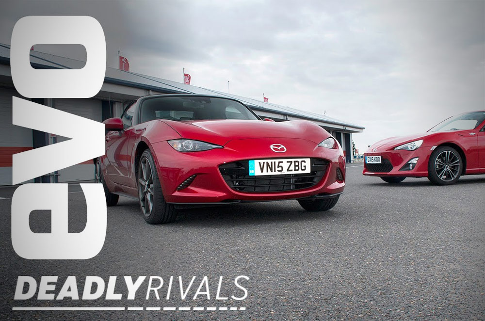 WATCH: The Toyota 86 and Mazda MX-5 gets a head-to-head comparo on track