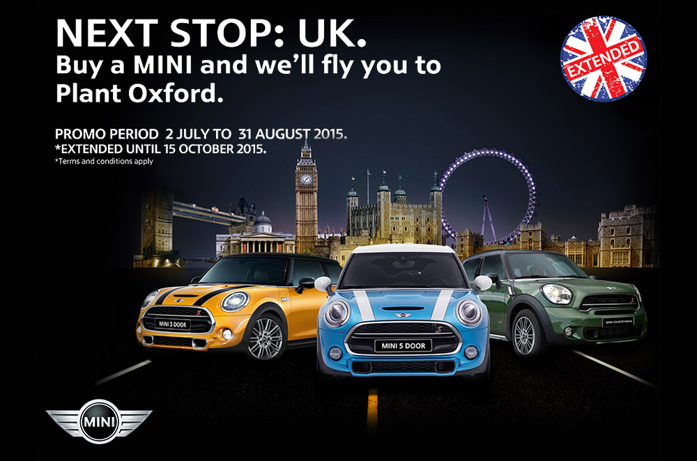 MINI extends free trip to the UK promo 'til October 2015