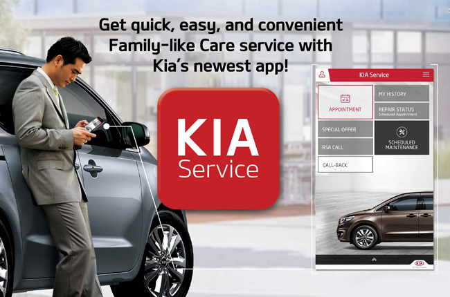 Kia's Service Official App is now in the Philippines