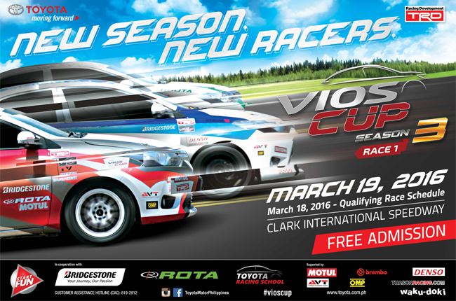 Toyota Motor Philippines gears up for the 3rd season of the Vios Cup
